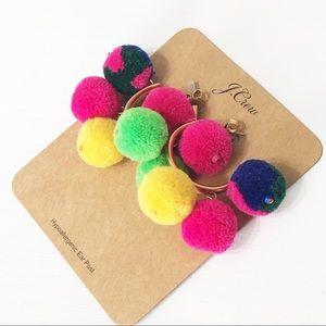 J. Crew • Pom-Pom Hoop Earrings
